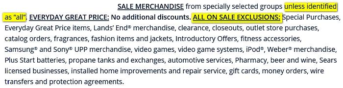 Sears all on sale