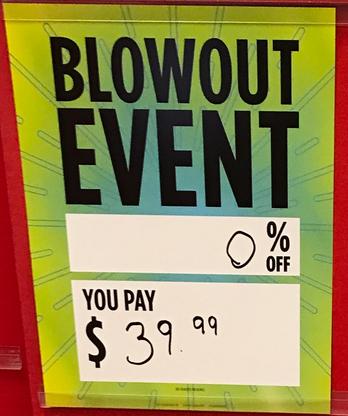Sears Blowout