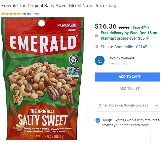Walmart's nutty price