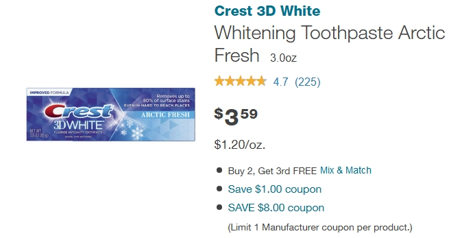 Walgreens Crest offer