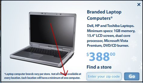 Wal-mart black laptop