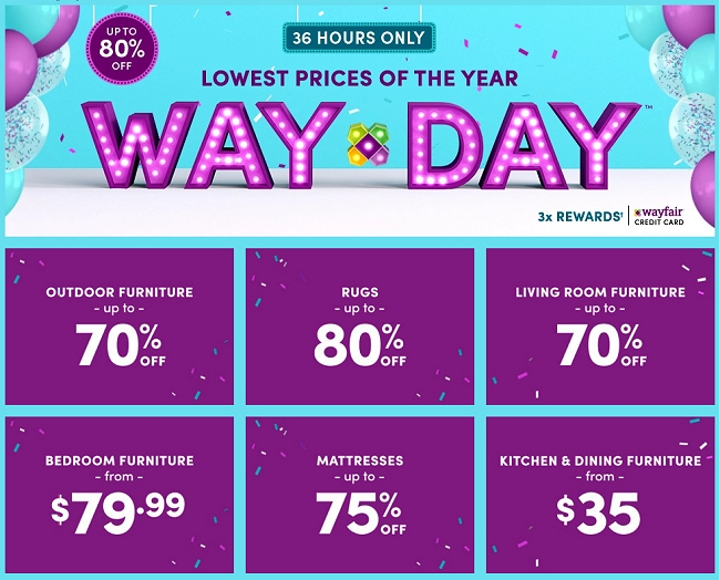 Wayfair Way Day