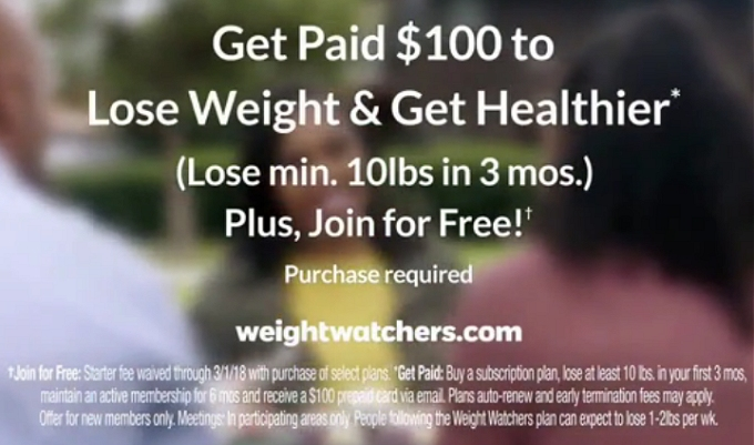 Weight Watchers make $100