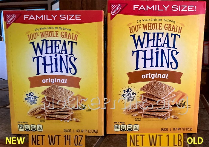 Wheat Thins actual boxes
