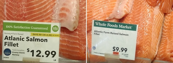 Salmon before/after