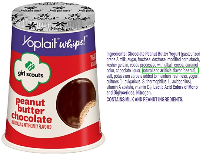 Yoplait peanut butter